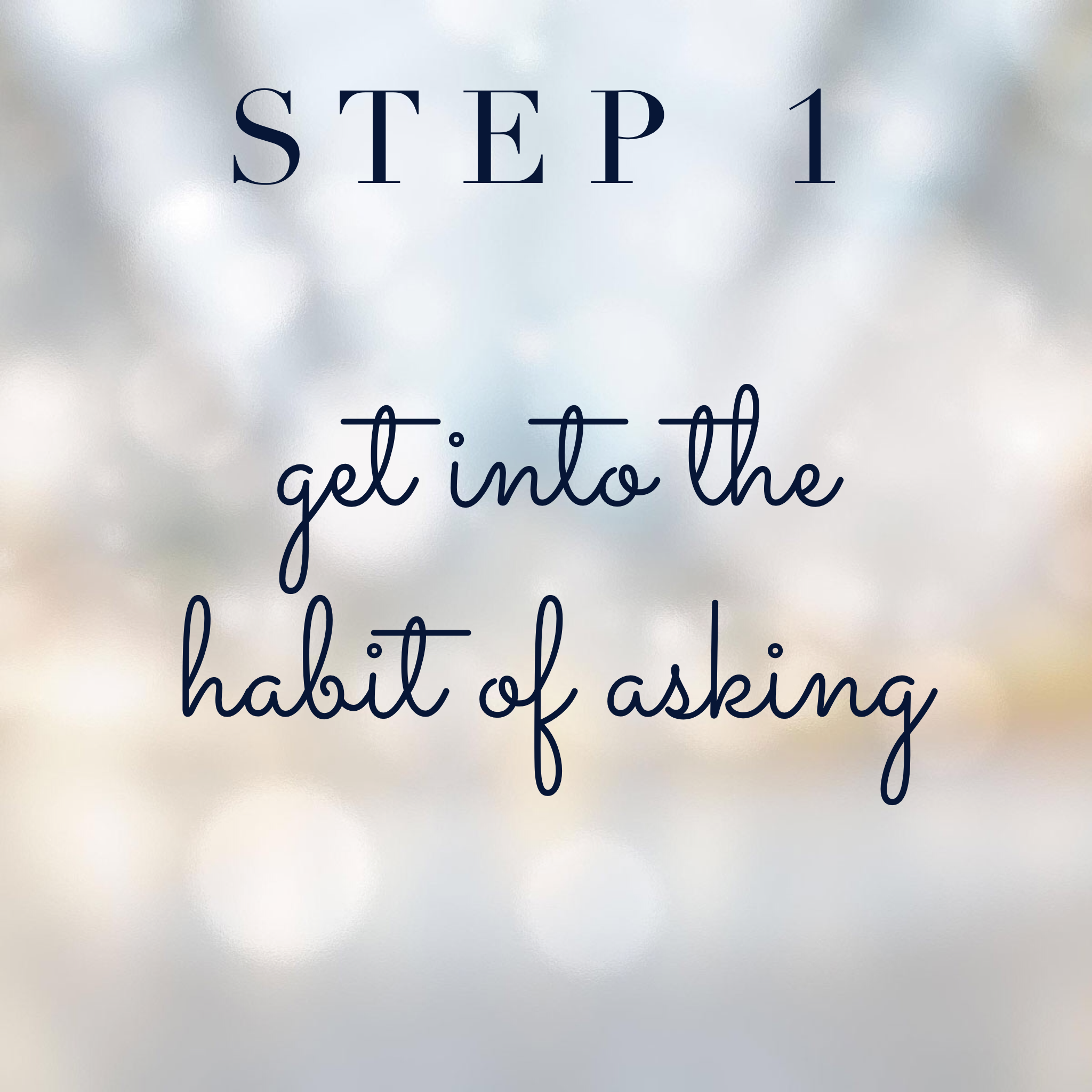 Connect with your spirit guides step 1: Get into the habit of asking