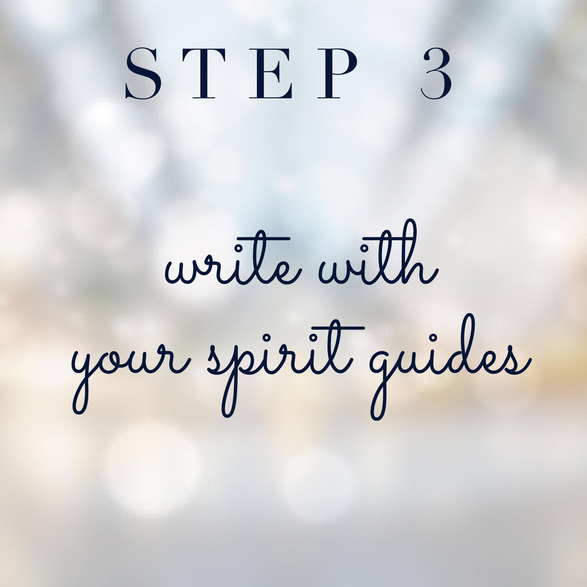 Connect with your spirit guides step 3: Write with your spirit guides