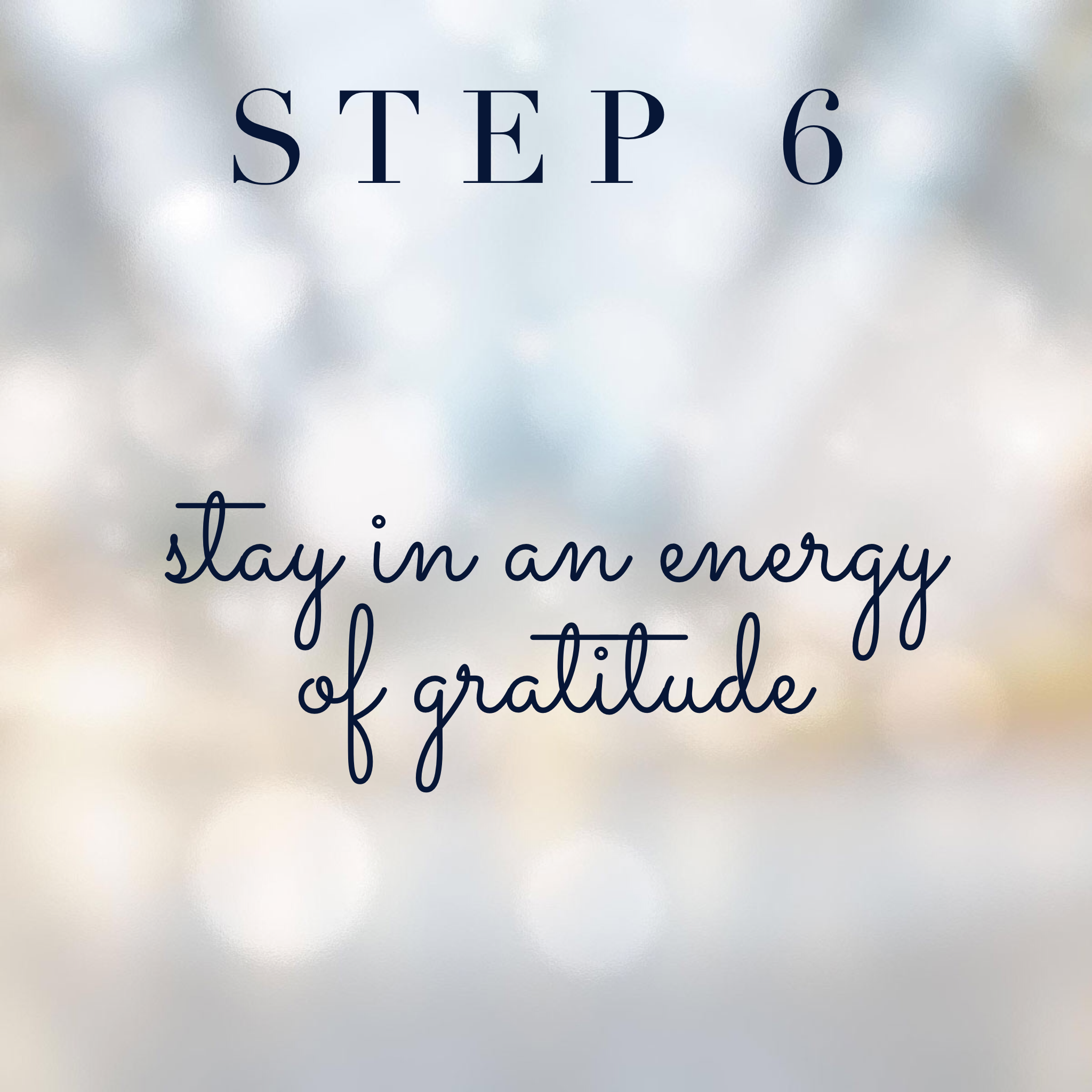 Connect with your spirit guides step 6: Stay in an energy of gratitude